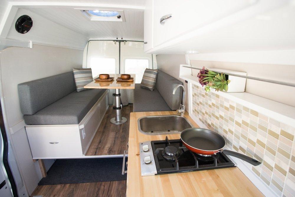 Conversion Van Layout Convertible Bed