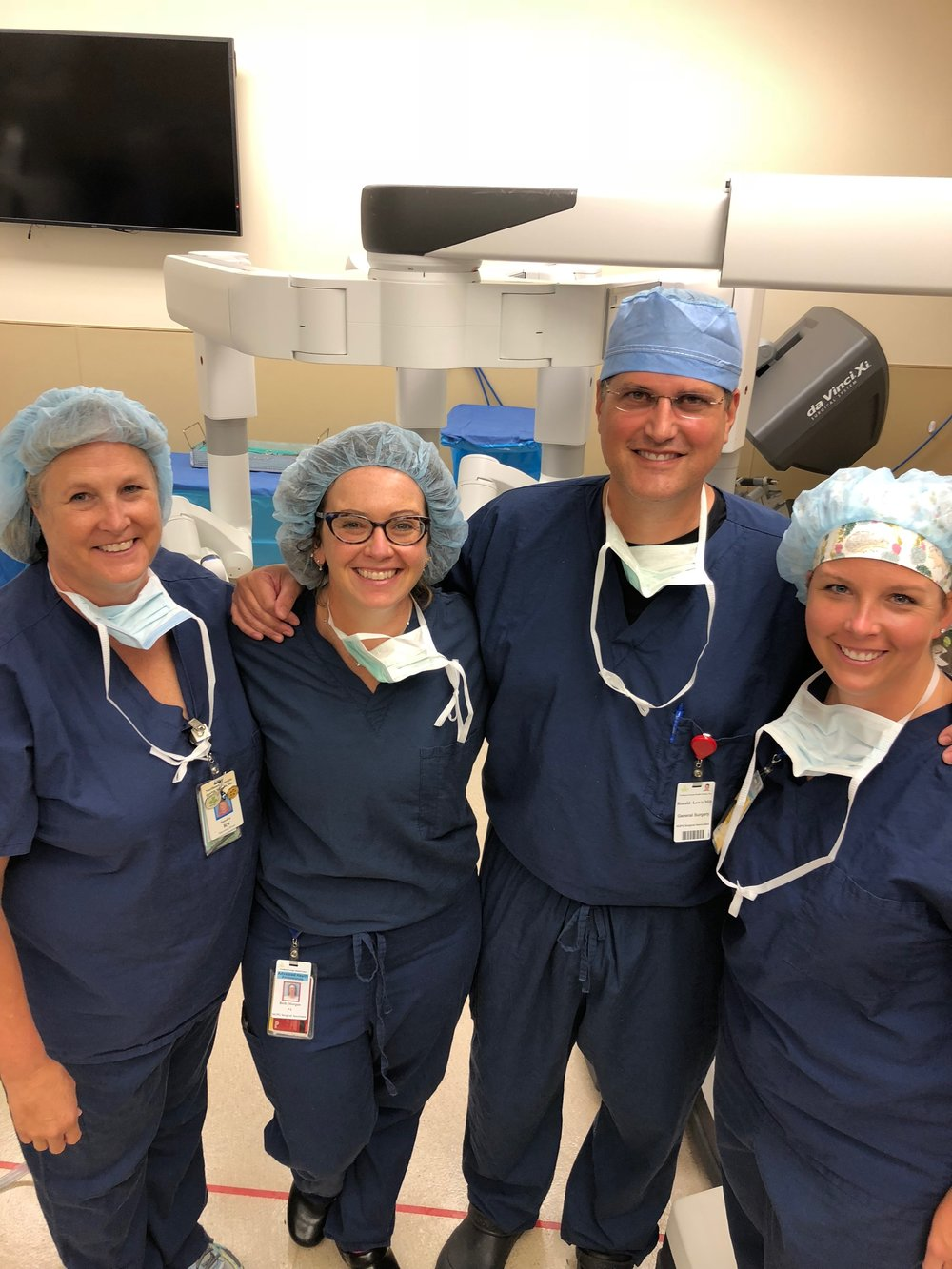3 Year Anniversary with Robotic Surgery - June 29, 2018Our team celebrated our 3rd year and 300th case with robotic surgery.
