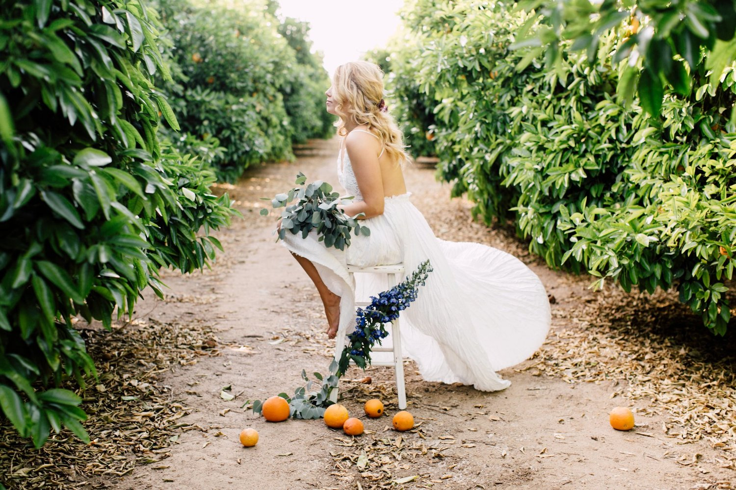 8010453f3e1e Makeup Inspiration in the Orange Groves - Featured on Style Me Pretty