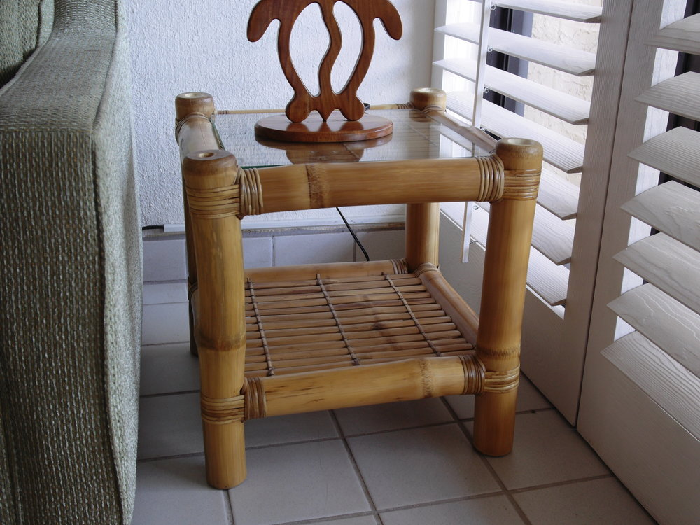 Bamboo End Table Or Nightstand