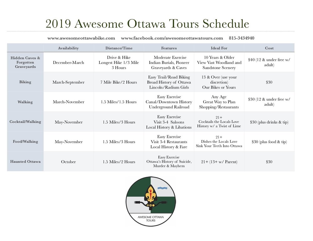 2019 Awesome Ottawa Tours Schedule-Meal Planner.jpg