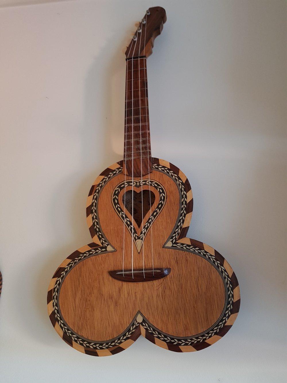 Michael Rosenberg's tri-coconut ukulele -
