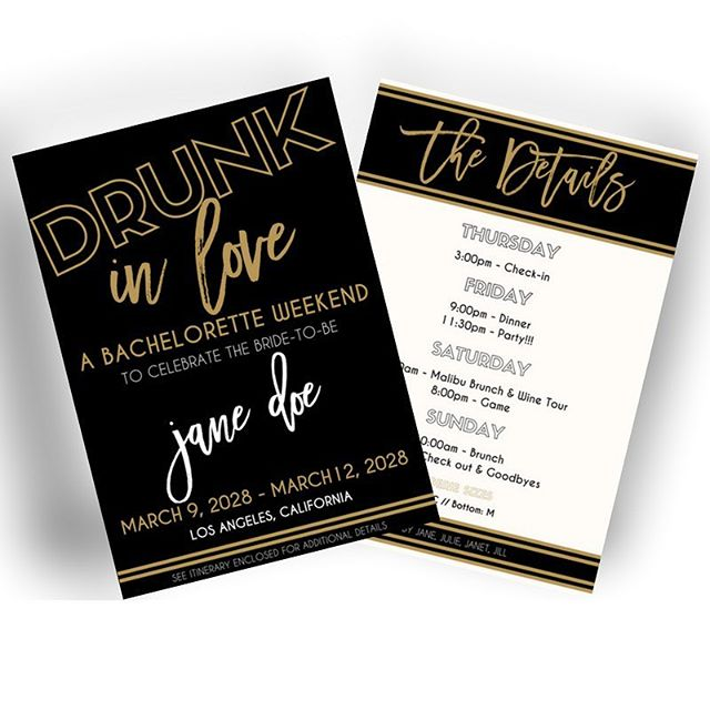 Slay your bachelorette party with this printable Beyonce themed invitation. This invitation can be customized just for you. Click on the link in our bio.
