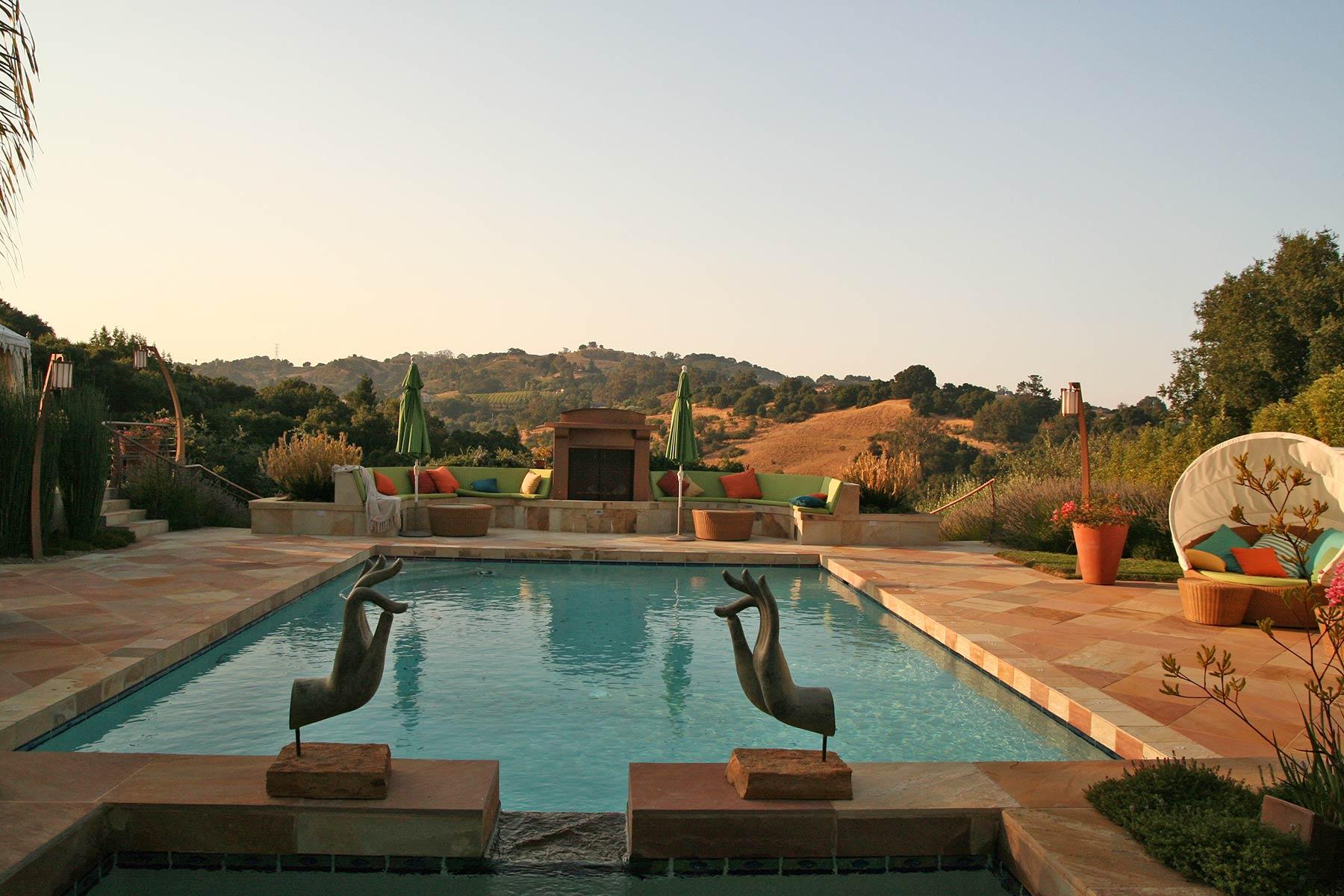 A Hilltop Oasis in Saratoga — GardenArt Group Landscape Architecture ...