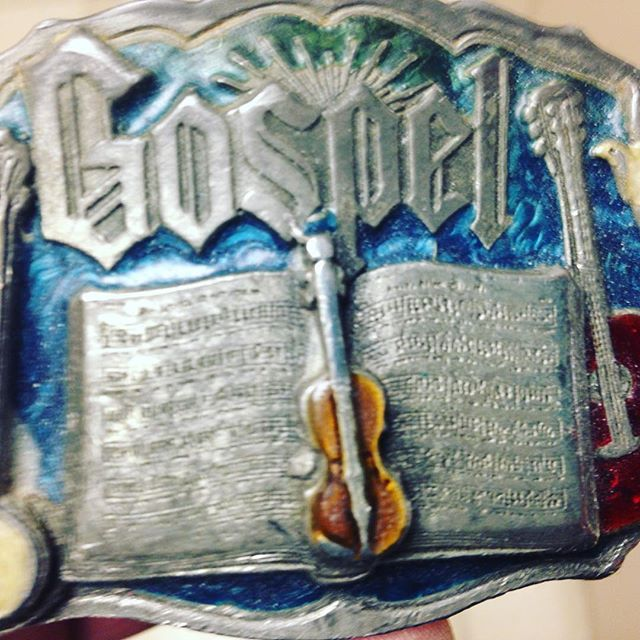 My Grandfather's belt buckle I'll where as I graduate from Princeton Seminary tomorrow morning. #legacy #doitforlove