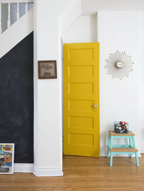 Interior Painting - Yellow Door