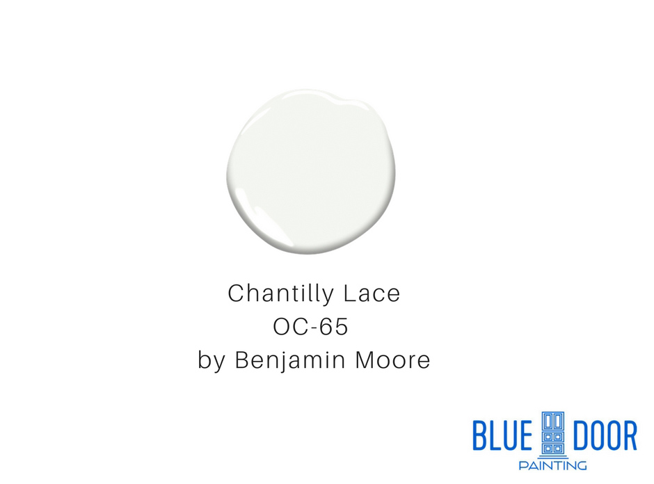 Chantilly Lace OC-65 by Benjamin Moore Blue Door Painting