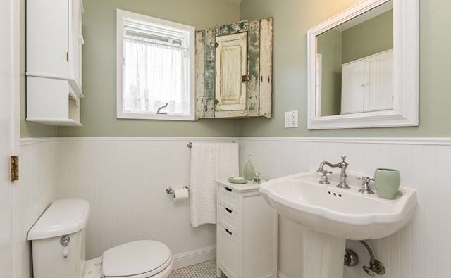 Our client chose this charming green shade to emphasize provence style of the house 🏡 —————————————————————— #bluedoorpainting #chicagopainter #chicagocontractor #chicagobusiness #bathroomdecor #bathroom #bathroomdesign #homeinspo #provencestyle