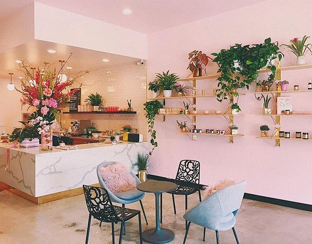 Isn't this pinky decor super cute and stylish?! 😍🌸 We do take commercial painting projects too! Call us for free estimate 📞 —————————————————————— #bluedoorpainting #chicagopainting #chicagopainter #chicagobusiness #painter #interior #interiorpainting #cafe #decor #coffeeshop #millenialpink #gold #rosegold #stylish #chicagocontractor