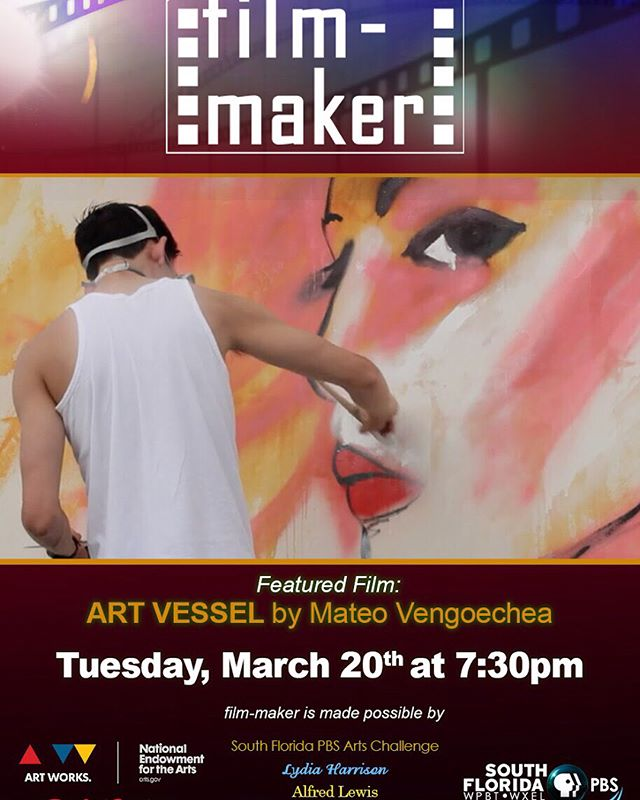 "Stoked!! Big s/o to @pbs for airng ""Art Vessel"" tonight at 7pm EST. What's there to not celebrate? Proud to work with @themvprods @mateoven @aquinopictures  @danartjar as always and many other beasts. Happy and thankful to have filmscored this piece of TRUTH 🔥 . #ArtVessel #art #filmmaker #wynwood #MVProds #miamiart #music #goodmusic  #miamiartbasel #filmscore  #documentary  #film #miamimusic #goodart #composer #ggartwork #livemusic #miamiartbasel #artbaselmiami #urbanart #newyork #losangeles  #london #miamiartweek #artweek #mural #gualo #gualomusic #pbs"