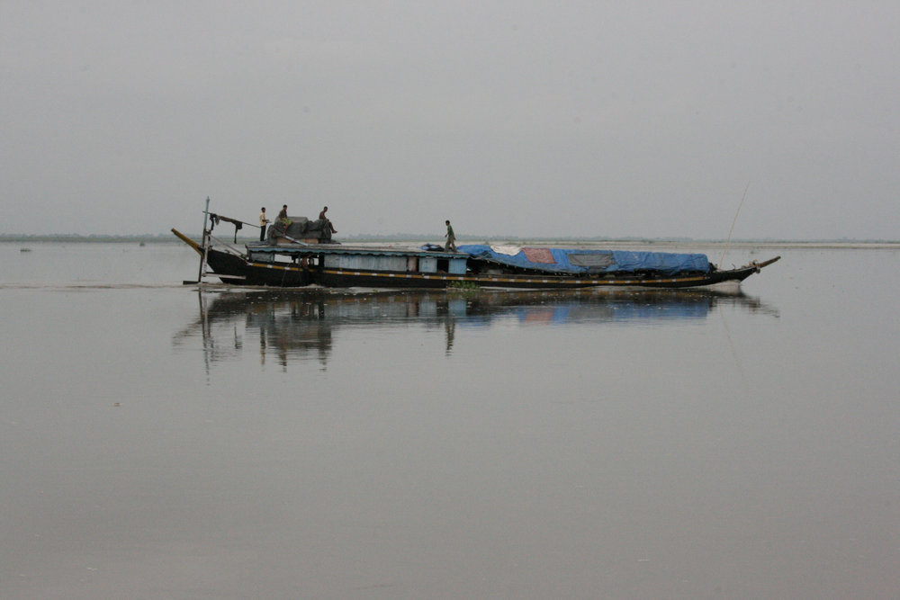 The ferry to Majuli, the largest river island in the world.
