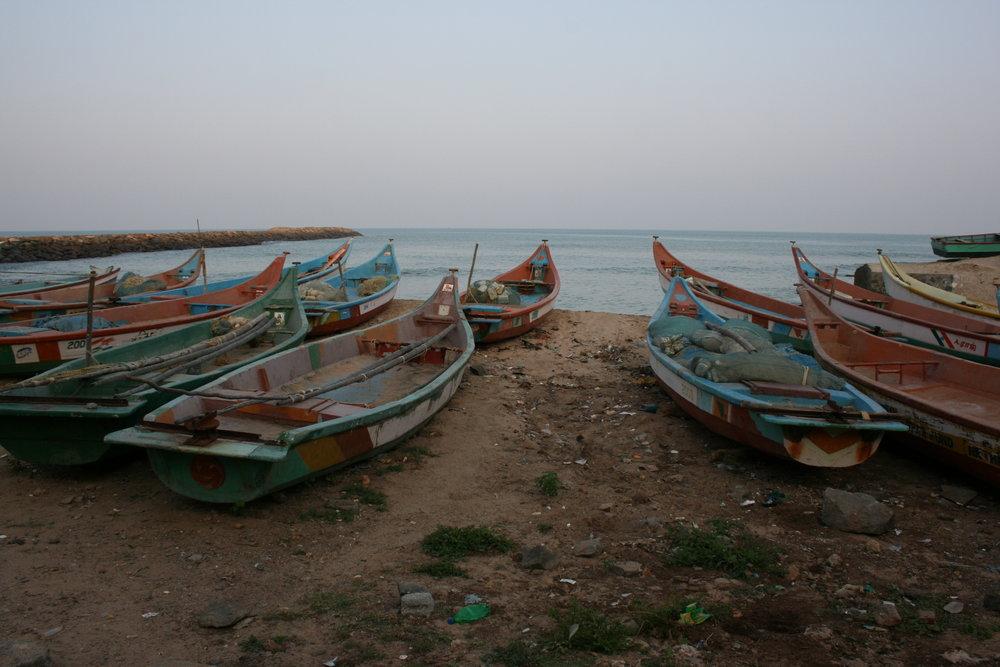 fishing community in kaniyakumari, southernmost point of india