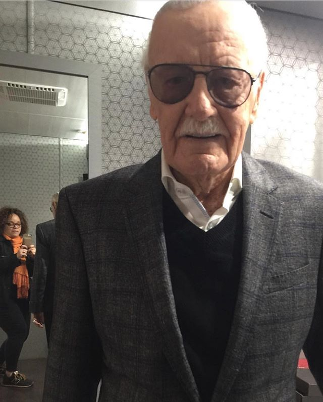 RIP STAN LEE So glad I was able to meet you, experience your good humor and dress you up!. . . . . . #blackpanther #ruthecarter #costumedesignerblackpantherfilm