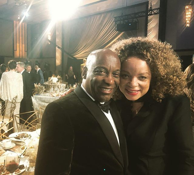 Great night celebrating Cicely Tyson and other greats in cinema! #governorsball @johnsingleton and me! #friendsforever