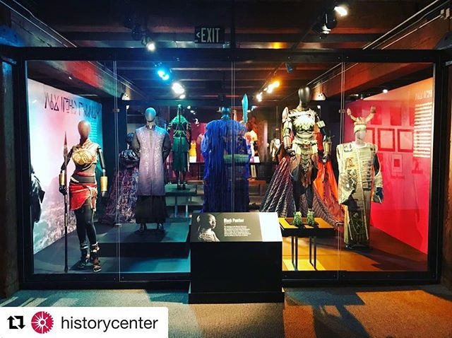 "2 MORE DAYS! Don't miss your chance to see ""Heroes & Sheroes"" and @historycenter before tomorrow! . . Repost @historycenter with @get_repost ・・・ This weekend is your last chance to see ""Black Panther"" costumes at the History Center. Don't miss the final weekend of the popular costume exhibition Heroes & Sheroes: The Art and Influence of Ruth E. Carter in Black Cinema. The exhibit, which is presented in partnership with @fashionafricana_studio, is open through Sunday, Dec. 2"
