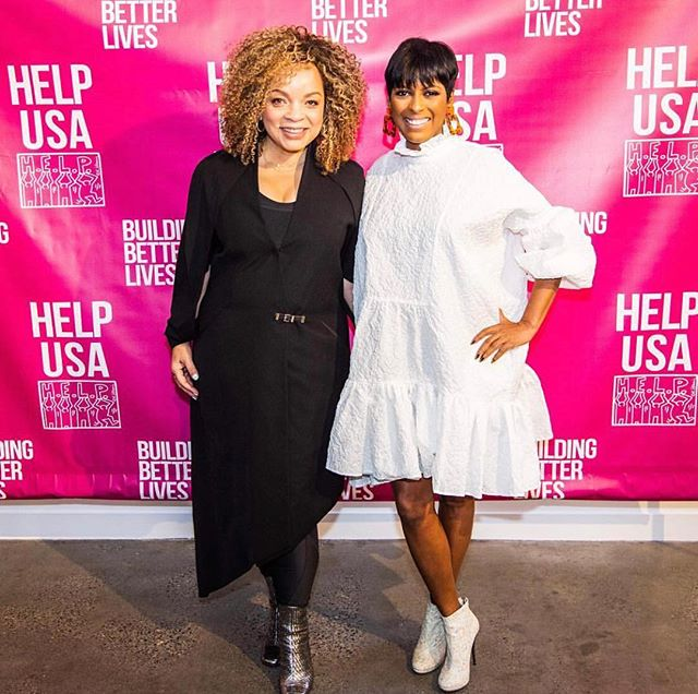 Had a wonderful time at @helpusa's Annual Scholarship Awards Lucheon receiving the HELP HERO Award and presenting scholarships to survivors of domestic violence to help them pursue their personal and professional dreams. Congrats to Pamela and Mary!  Thank you @helpusa @tamronhall @bnymellon Foundation and everyone who took part in making the event a success. . . . . . . #costumedesign #costumedesigner #blackfilm #helpusascholarshipluncheon #domesticviolence #survivors #helpheroes #buildingbetterlives