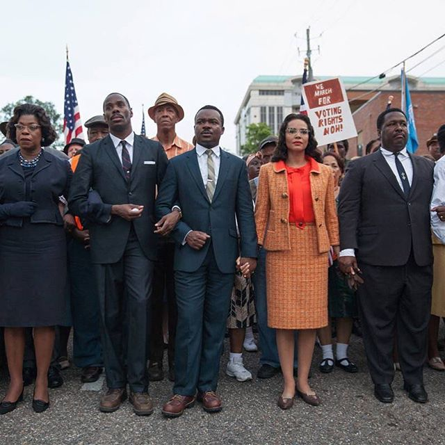 """We may have all come on different ships, but we're in the same boat now."" - Martin Luther King, Jr. 🖤 . . Image from ""Selma"" (2014); Costumes by Ruth E. Carter"