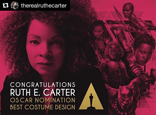 If you're in LA, come see Ruth E. Carter's *Oscar-nominated* Black Panther costumes in person at the @fidmmuseum (exhibition opens to the public February 5)!! . . Repost @therealruthecarter with @get_repost ・・・ What a way to start off the new year!!! Thank you @theacademy! . . . . #ruthecarter #costumedesign #blackpanther #costumedesigner #blackpantherfilm #blackfilm #oscarnominations #oscarnominations2019 #oscars #academyawards #academyawards2019