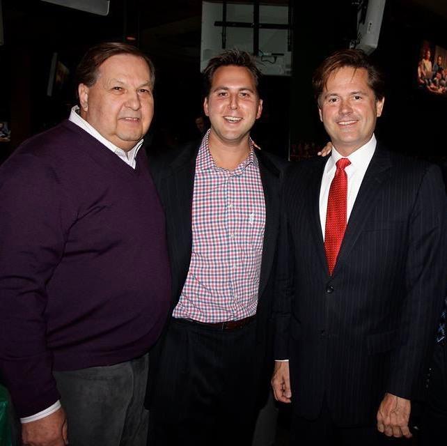 Former State Senate Democratic Leader Art Miller Jr. (left), former Macomb County Treasurer and State Representative Derek Miller (center) and State Sen. Steve Bieda (D-Warren) (left).