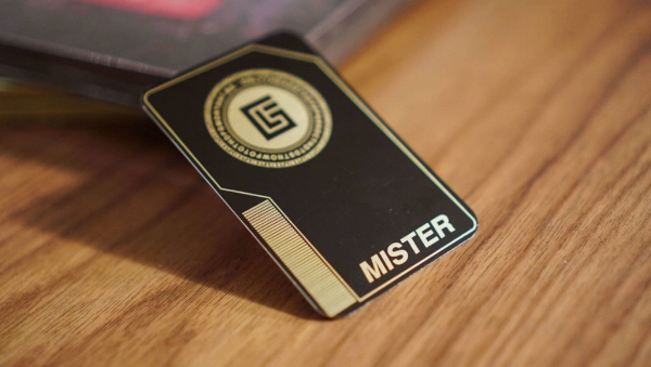 """Andrew's G-List card. He was given the title """"Mister R""""."""