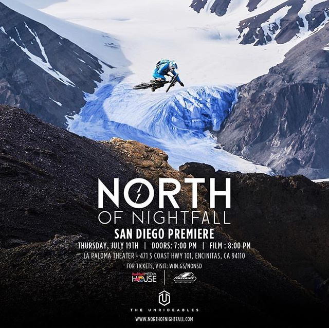 one of our projects for @redbull North of Nightfall... logo & key visual art... about an amazing MTB expedition into the arctic circle. SF premier at La Paloma on Thursday.