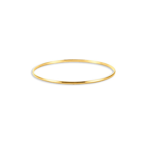 RECLAIMED SKINNY BANGLE - A conscious classic in 14K reclaimed solid gold for strength and daily wearability.$420