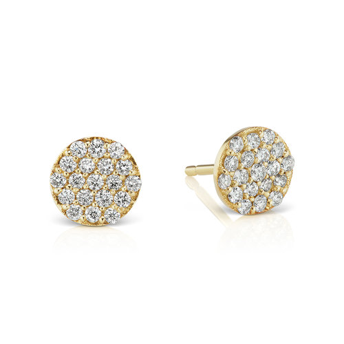 PAVE STUDS - Your modern essential - part of your everyday upscale uniform that you'll never want to take off, 14K reclaimed solid gold for strength and daily wearability.$950