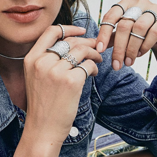 Saturday stack goals. The sustainable extras you can feel good about layering up. #sustainablefashion #kbhjewels