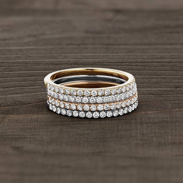 Can't keep these classics in stock: The Traditio Split Ring - 1/4 carat of sparkling grown diamonds set in 14K solid, reclaimed gold. Named after the Latin root word of tradition, to pass down from one generation to another for safe keeping. A new sparkling tradition inspired by all the women we know, doing their best today, for a brighter tomorrow. 💛✨ Feel good about stacking these babies up. #modernluxury #kbhjewels