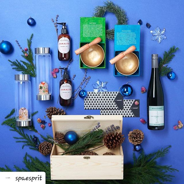 #Repost @spaesprit • • • • • Rebalance your energy centres in the comfort of your home with our exclusive gift sets, which include tibetan bowls, Plantation shower gels and Vitajuwels. Visit our stores to get yours today!  #SpaEsprit #SharingGoodVibes #GoodVibes