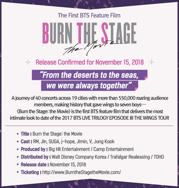b53f4327c Burn the Stage: The Movie Releases — US BTS ARMY