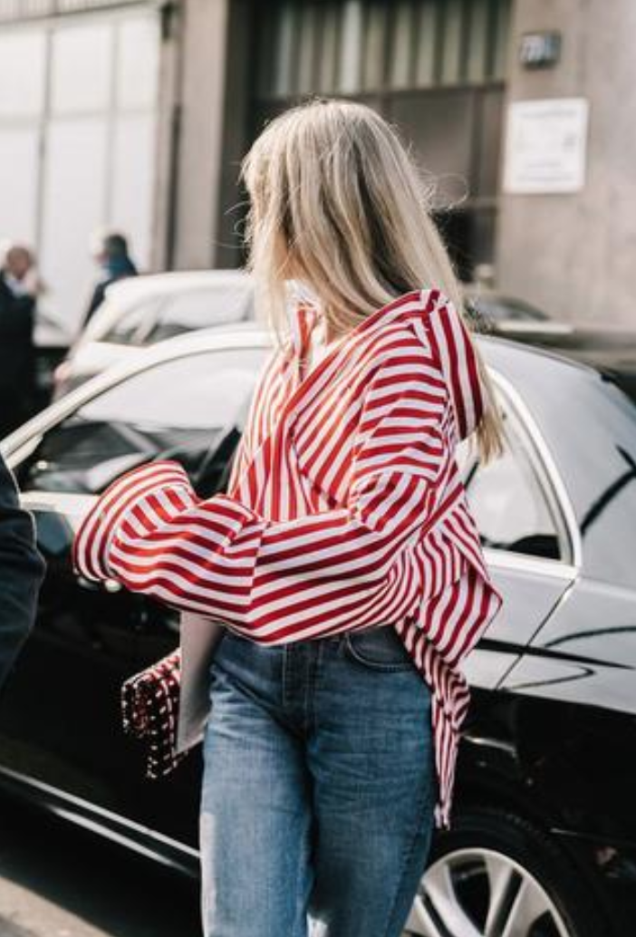 STYLE TIP: - We love an oversized relaxed boyfriend style striped shirt. Especially if its a bold pop of colour.Paired back with a casual pair of jeans (light denim for a darker shirt & vice versa), a pair of Birkenstocks or heeled boots & finished with layered accoutrement.It's a classic staple style that leaves a major fashion imprint, not to mention oozes classic chic.