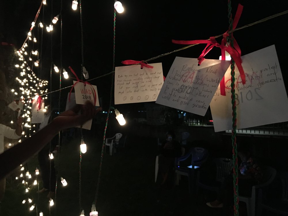 Messages of love and light to friends and family members who have been affected by HIV/AIDS.