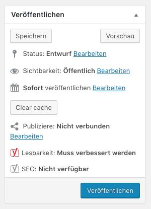 Wordpress Veröffentlichen Optionen