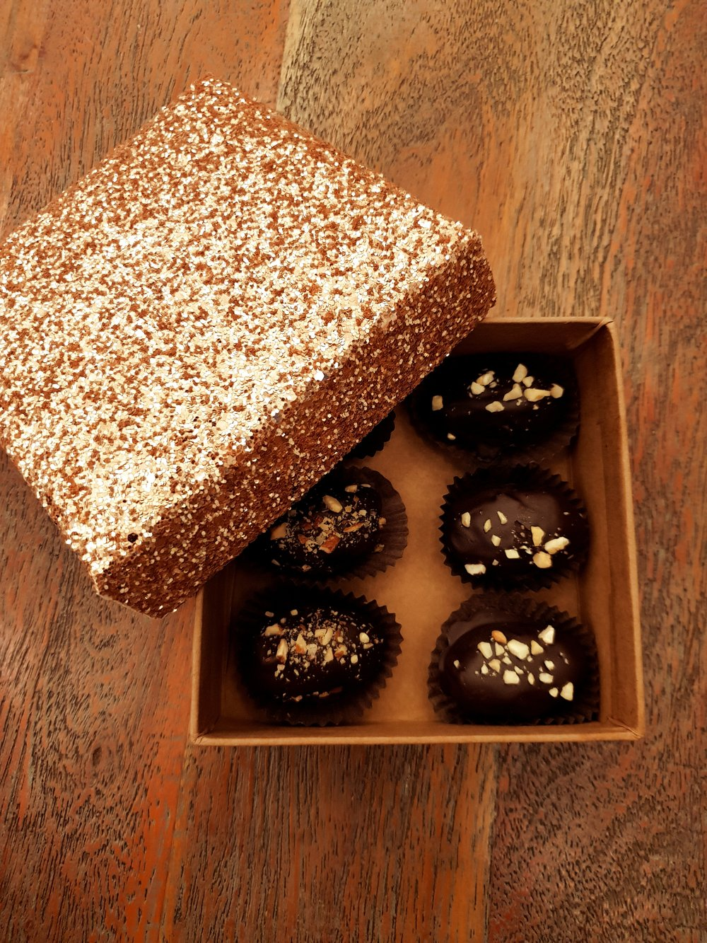 Medjoul Date Stuffed Chocolate with nut filling