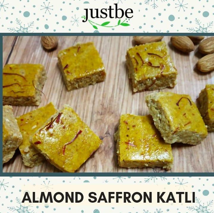 Almond Saffron Katli