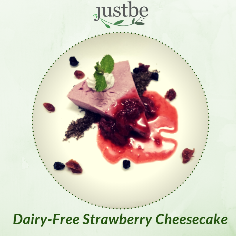 Dairy Free Strawberry Cheesecake