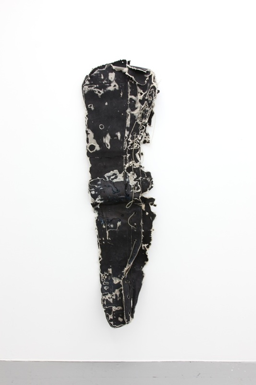 Witness,  2016, rubber, fabric, PVC tubing, 178 x 52 x 22 cm