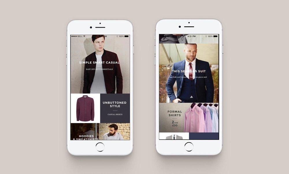 Homepage mobile