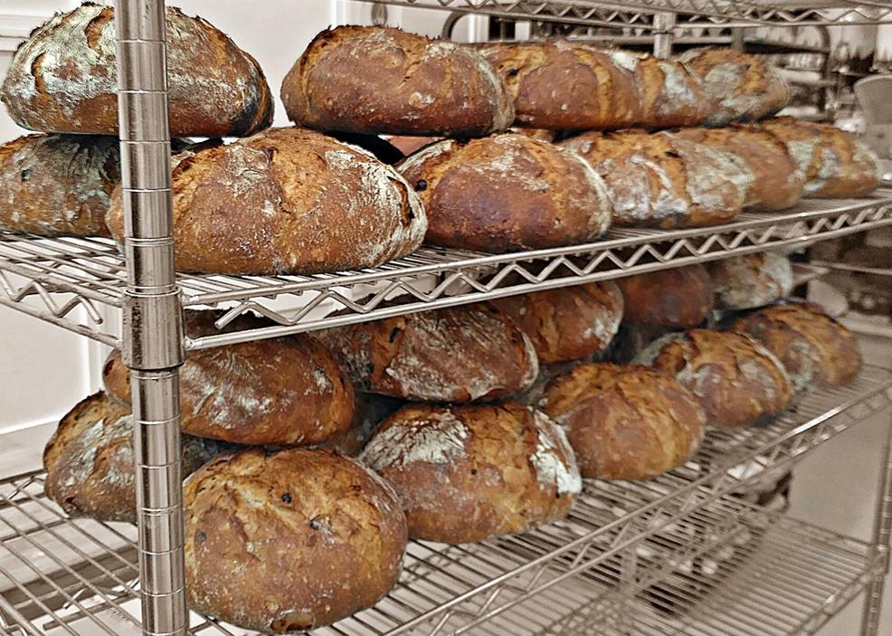 Pan de vino, pasas y nueces - Con harina Tradition Francaise de Le Moulin de Navarre