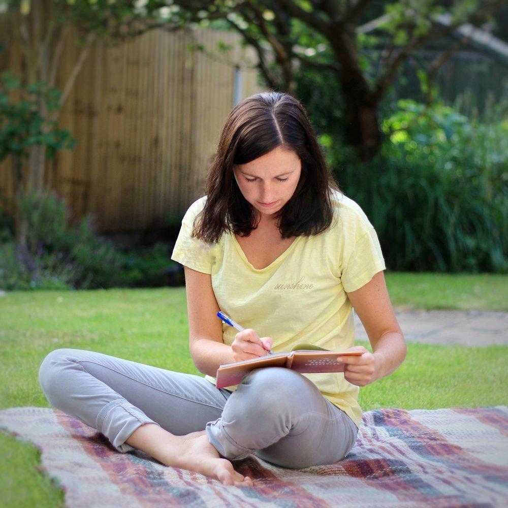 Journalling in the garden