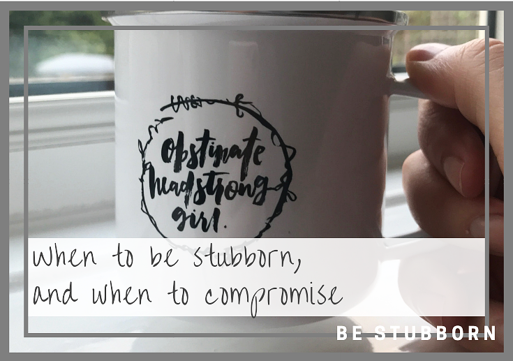 When to be stubborn and when to compromise | Joanne Becker | Be Stubborn | Coaching | small business, creative coaching, resources, content creator