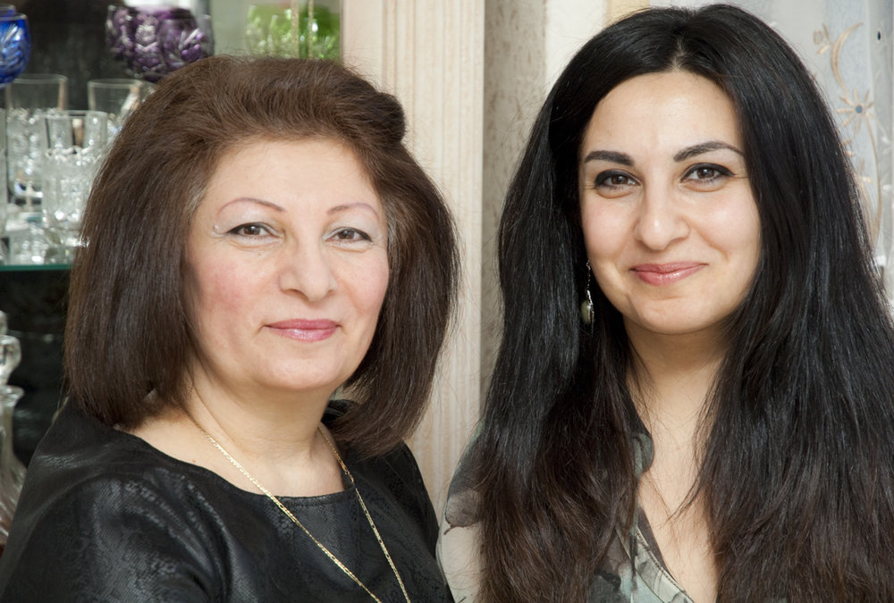 Hasmik (left) and Lusine (right), caterers for the AFEW Culture Initiative.