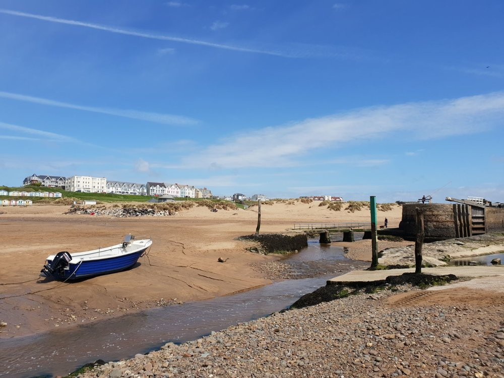 Low tide on Summerleaze Beach and the Lock Gates at Bude.   Photograph courtesy of Dan Starkey .