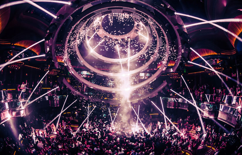 Omnia nightclubs main dance floor is a sight to be seen. Experience VIP entry and bottle service with Unlock Las Vegas.