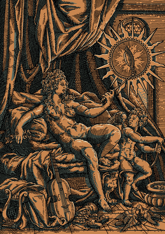 Venus et L'amour in Gold