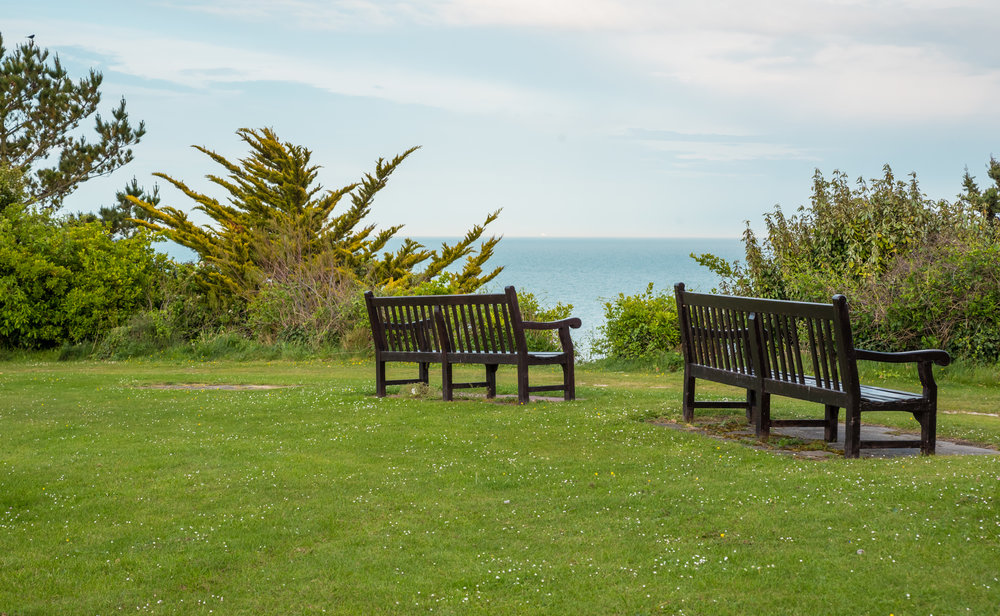 Sitting on a bench in Eastbourne, where else would one want to be? -