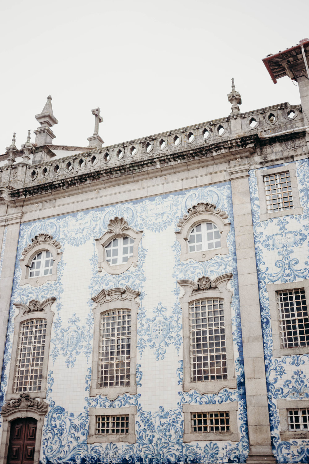 Our Portugal Travel Diary: Lisbon, Porto, and More | On the Street Where We Live (aretherelilactrees.com)  Igreja do Carmo, blue and white tiles, church