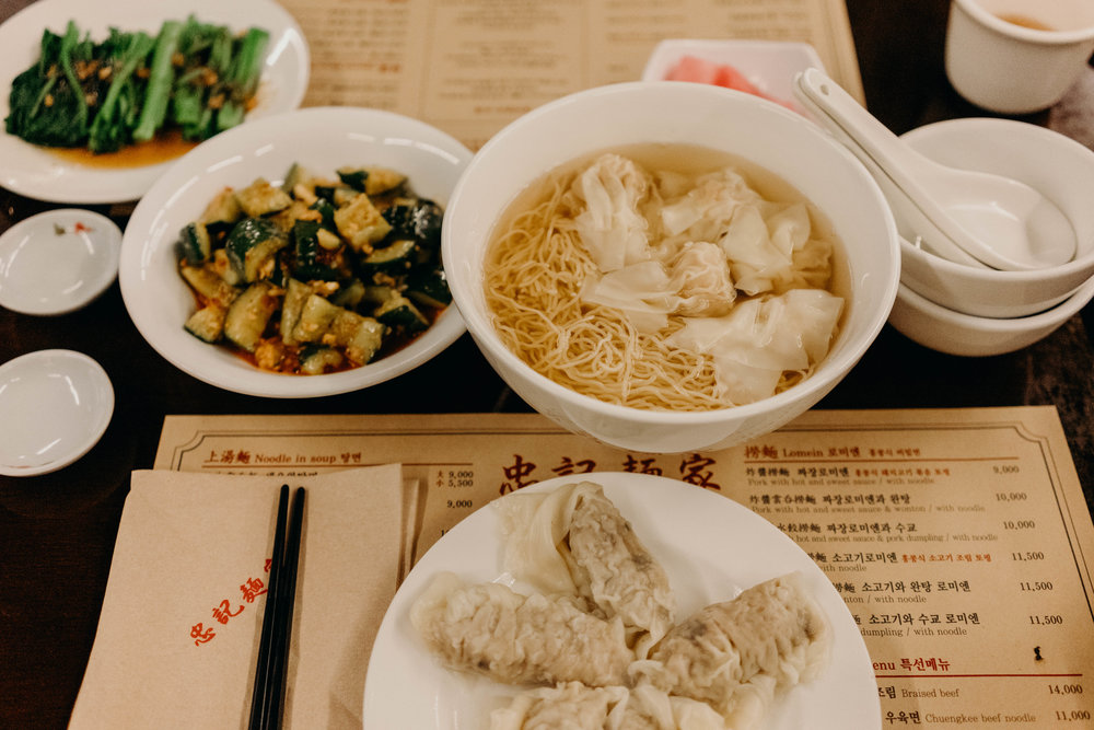 One of Our Favorite Chinese Restaurants in Seoul | On the Street Where We Live ( aretherelilactrees.com )  Chunky Myeonga