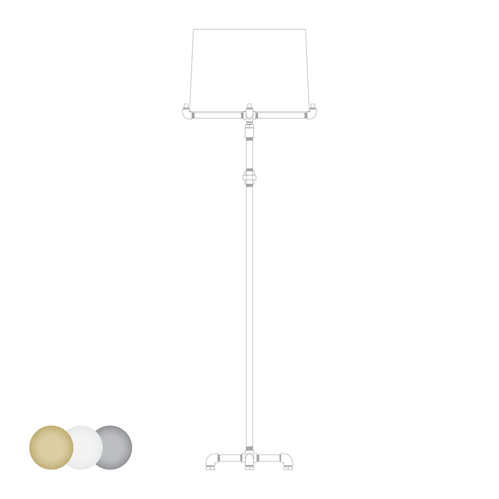 Bungalow Floor Lamp - Lamp shade color options are available.